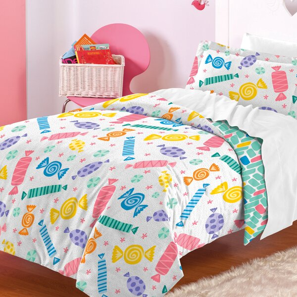 Madelyn 100% Cotton 2 Piece Reversible Comforter Set by Zoomie Kids